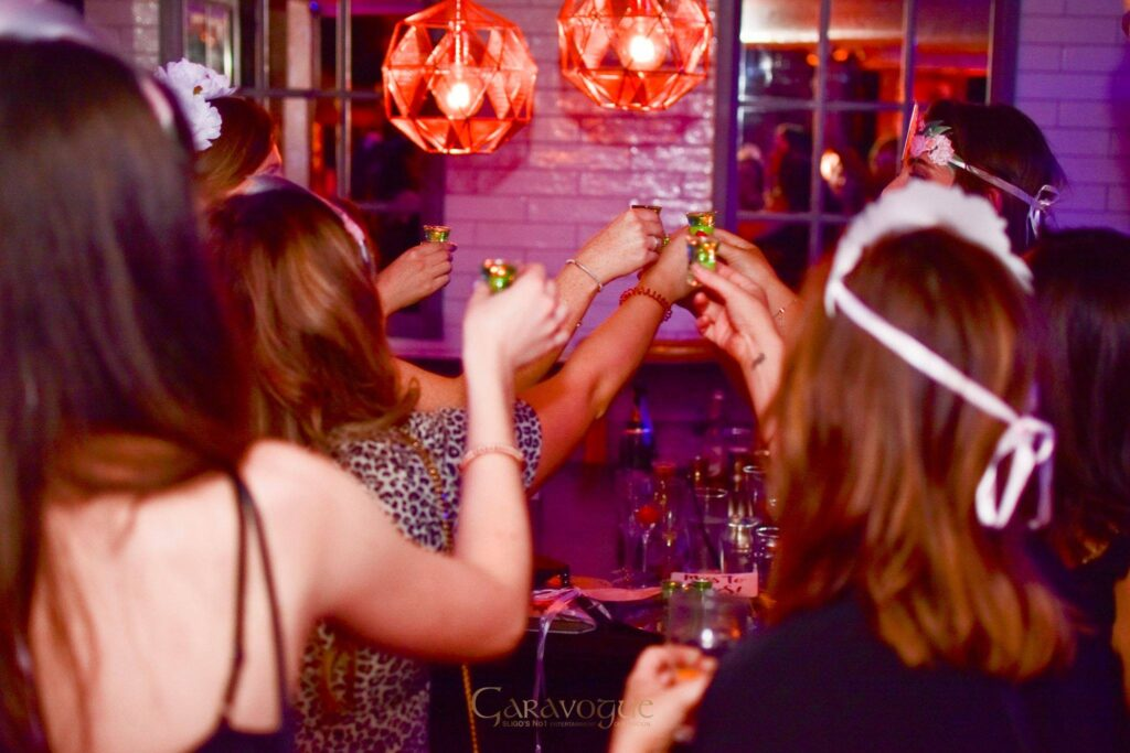 hen party drinking shots